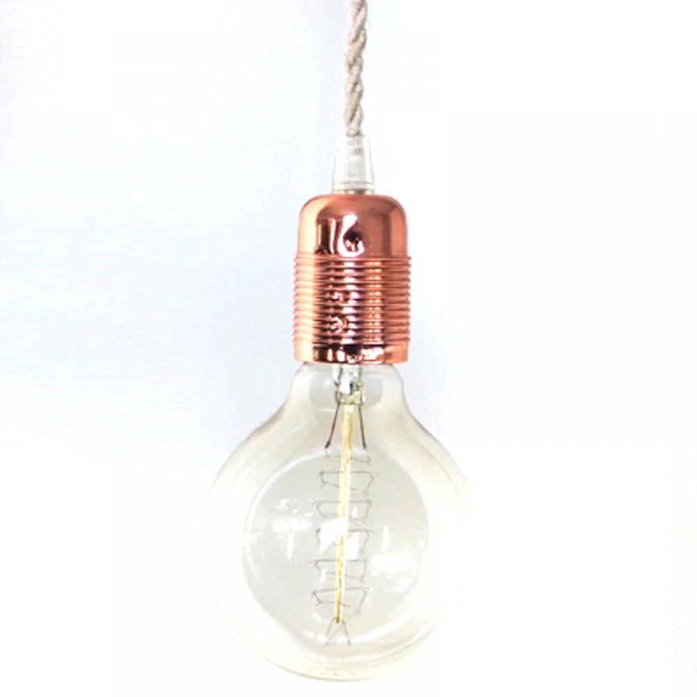 lampara de cable textil