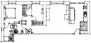 Plano casa aitas boceto