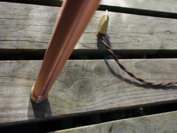 mesa auxiliar de cobre