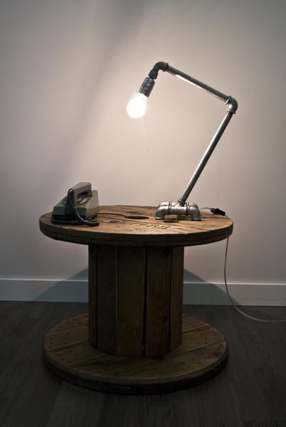 lámpara de mesa industrial