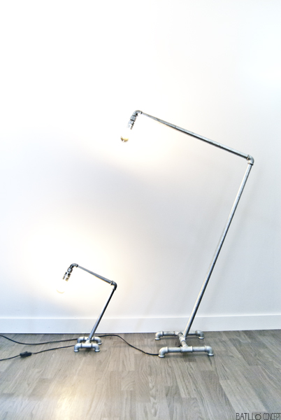 lámpara de tubería