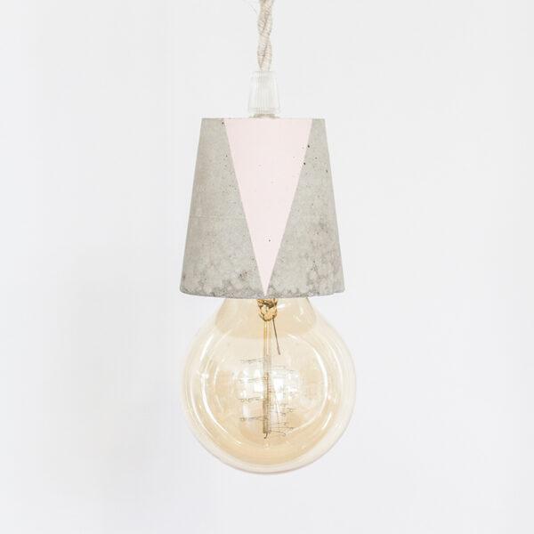 lámpara de cemento