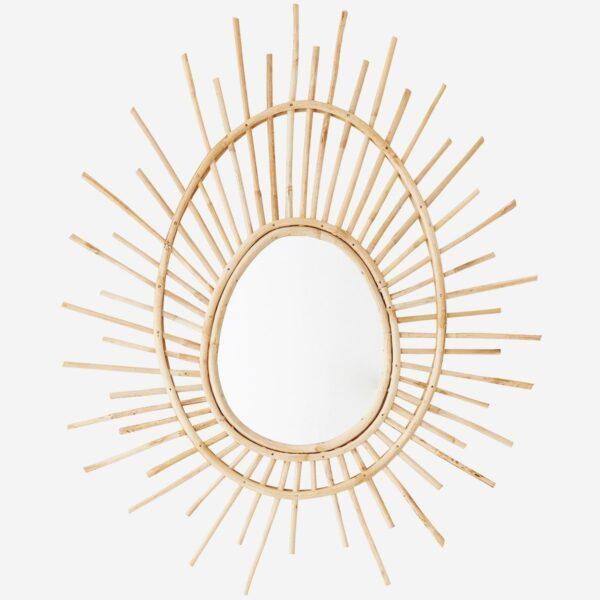 espejo de caña de bambu