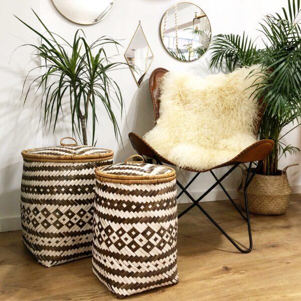 cesto de bambú