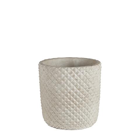 jarrón de cemento