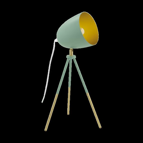 lámpara trípode de mesa