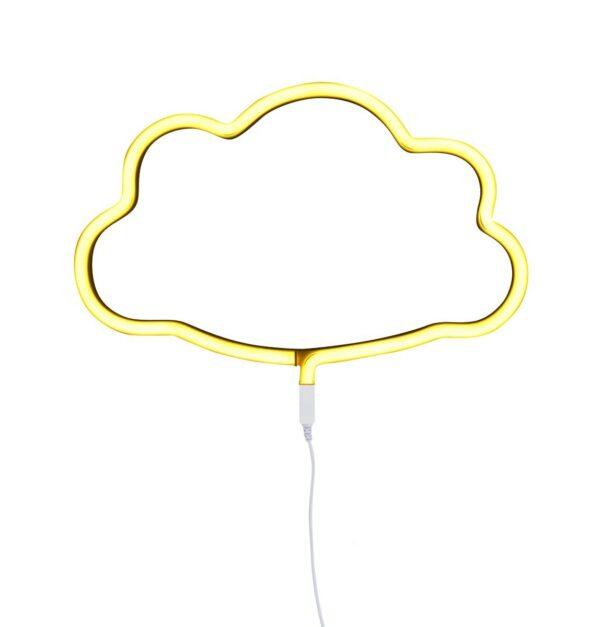 lámpara neón nube