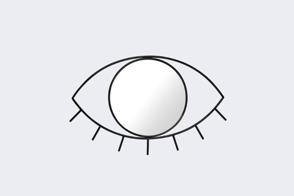 espejo ojo negro