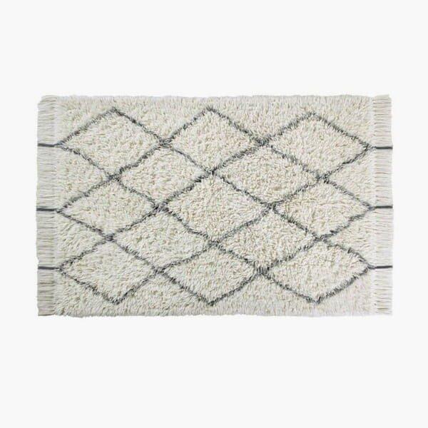 alfombra de lana natural lavable en lavadora