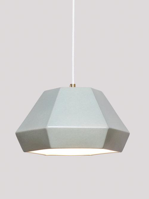 lámpara menta de cerámica