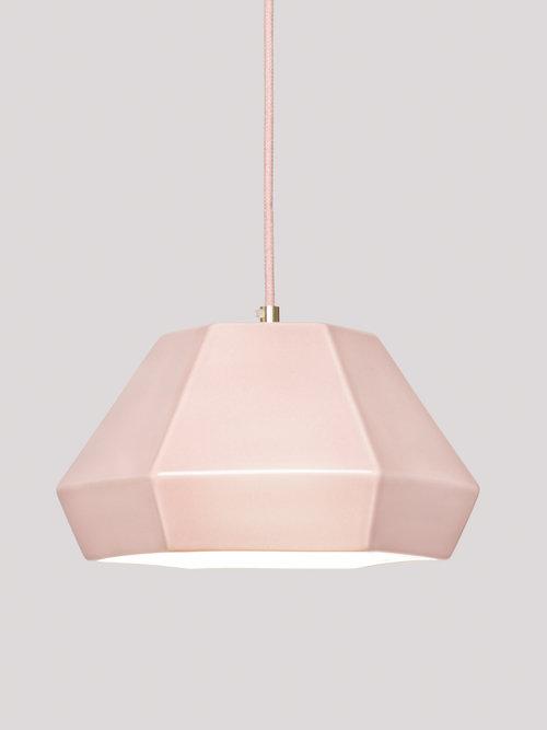 lámpara rosa de cerámica