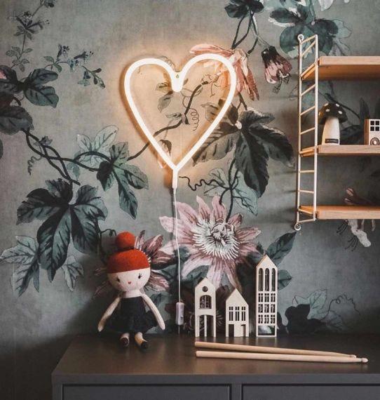 lámpara neón corazón